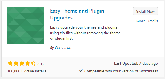 easy theme and plugin upgrades